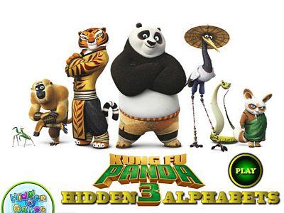 功夫熊貓3找字母