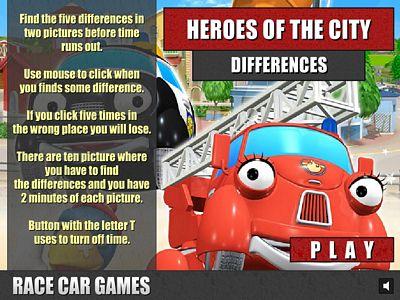 城市英雄找不同