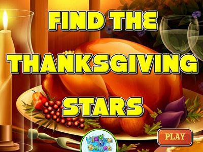 感恩節食物找星星