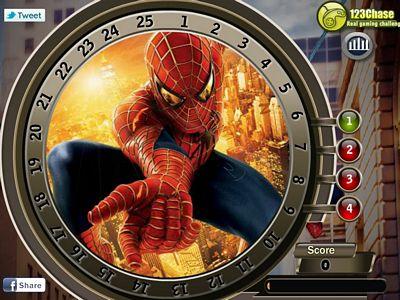 蜘蛛人找數字