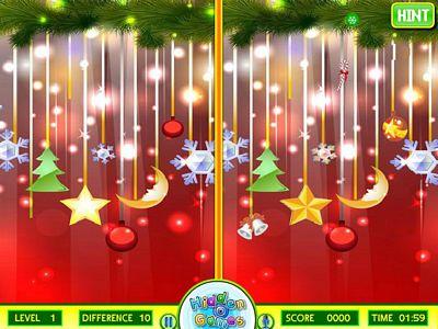 聖誕節圖片找不同