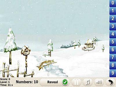 冰天雪地找數字