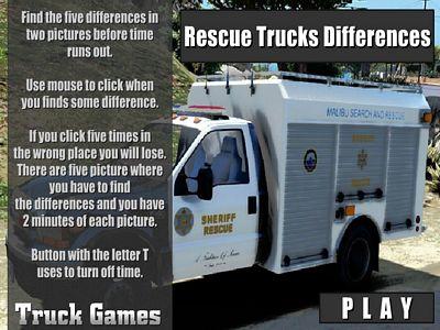救援卡車找不同