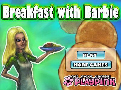 芭比娃娃做早餐