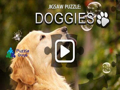 可愛狗狗來拼圖