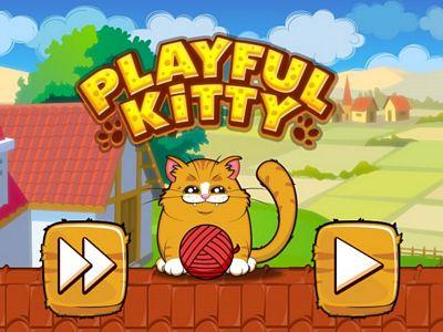 貓咪愛玩毛線球