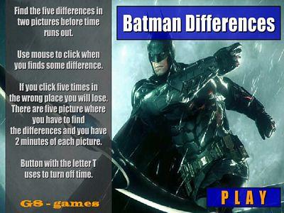 蝙蝠俠找不同