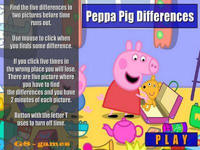 佩佩豬找不同
