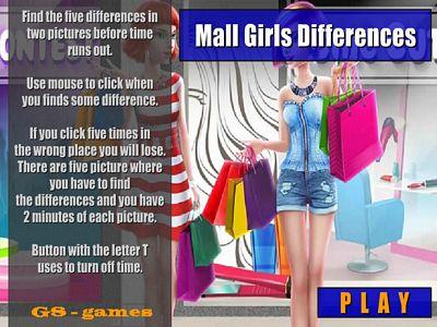 購物少女找不同