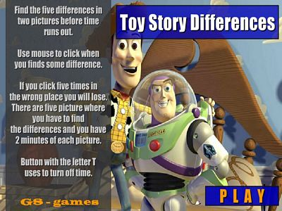 玩具總動員找不同