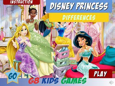 迪士尼公主找不同