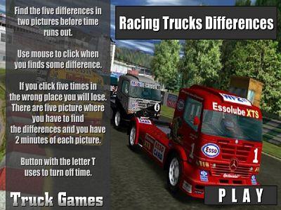 卡車比賽找不同