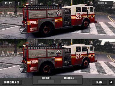 消防車找不同