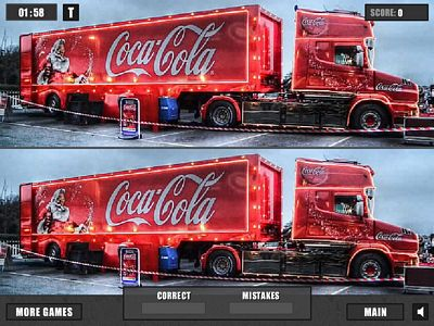 可樂卡車找不同