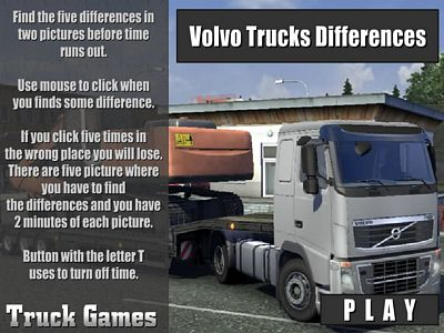 Volvo卡車找不同
