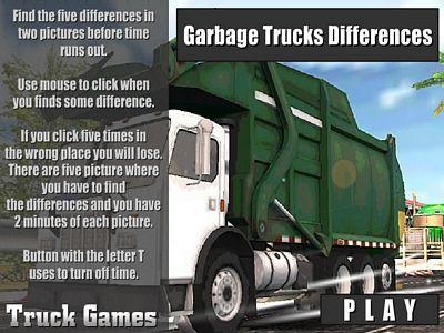 垃圾車找不同