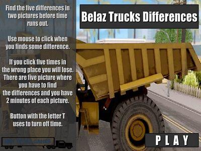 Belaz卡車找不同