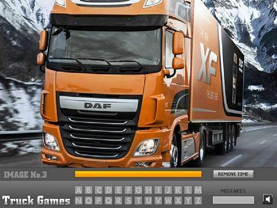 DAF卡車找字母
