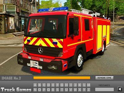 消防車找字母