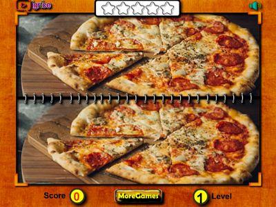 披薩找不同