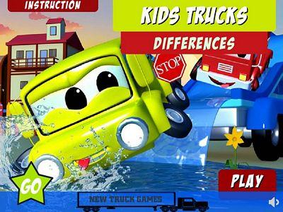 兒童卡車找不同