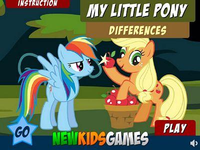 彩虹小馬找不同