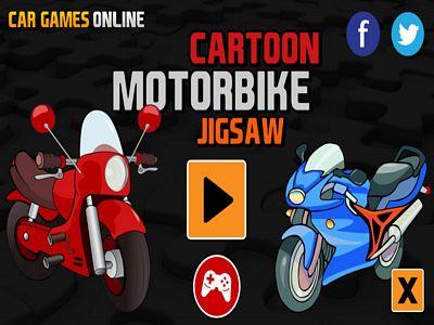 卡通摩托車拼圖