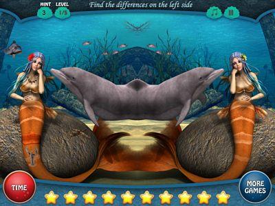 海底美人魚找不同