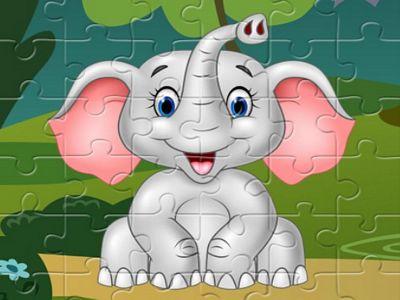 可愛大象拼圖