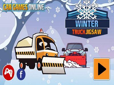 冬季卡車拼圖