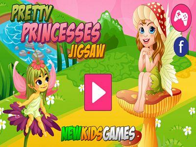 可愛公主拼圖