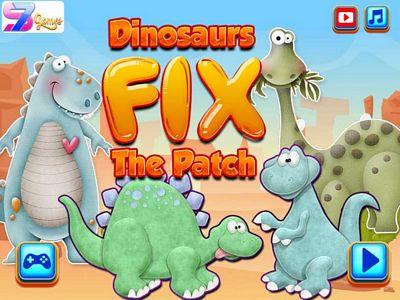 可愛恐龍拼圖