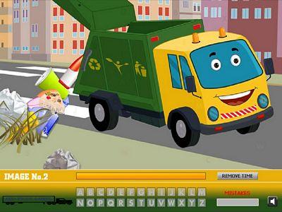 垃圾車找字母