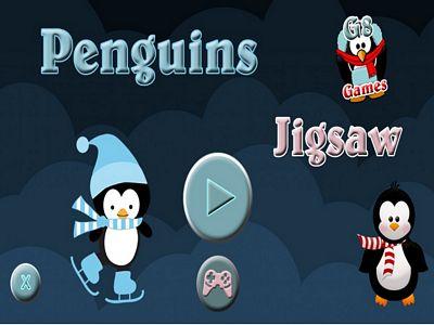 可愛企鵝拼圖