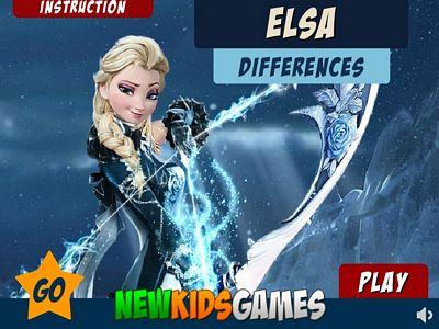 艾莎圖片找不同