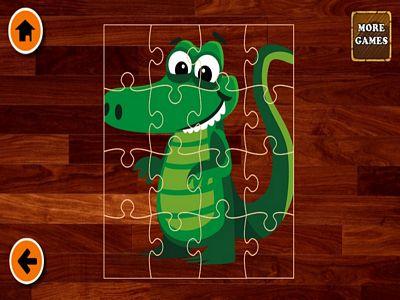 可愛鱷魚拼圖