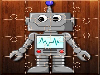 卡通機器人拼圖