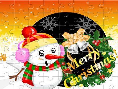 可愛聖誕拼圖