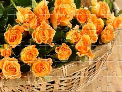 黃玫瑰拼圖