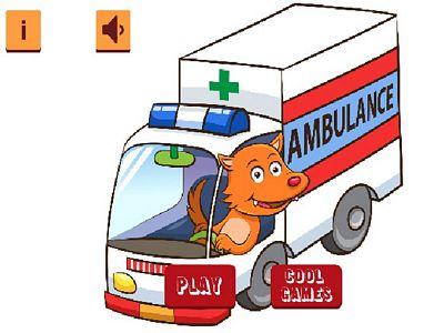 卡通救護車拼圖