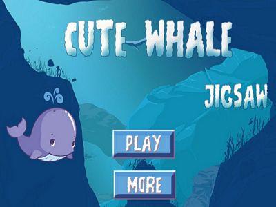 可愛鯨魚拼圖