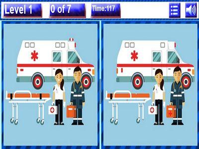 救護車找不同
