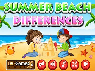 夏季沙灘找不同