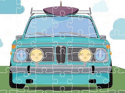 復古汽車拼圖