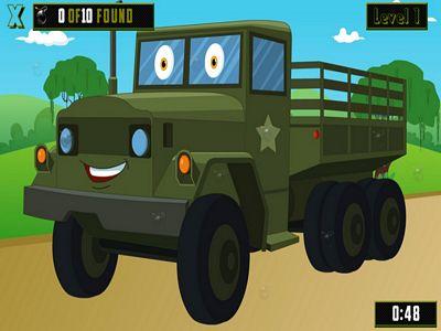 軍用卡車找炸彈