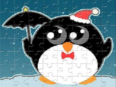 聖誕企鵝拼圖