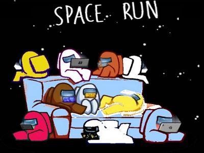 太空人下樓梯