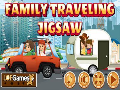 家庭旅遊拼圖